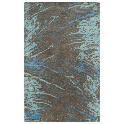 Brushstrokes Chocolate 8 ft. x 11 ft. Area Rug