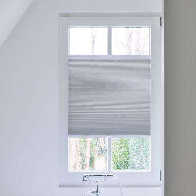 Cut-to-Width White Blackout Fabric Cordless 3/4 in. Cellular Shade - 33.5 in. W x 72 in. L