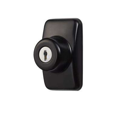 Keyed Deadbolt Painted in Black