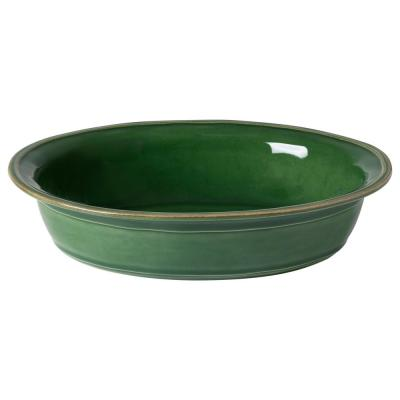 Fontana 13.25 in. 84 fl. oz. Forest Green Ceramic Stoneware Baker