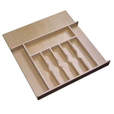 13x3x19 in. Cutlery Divider Tray for 18 in. Shallow Drawer in Natural Maple