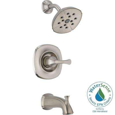 Addison 1-Handle Tub and Shower Faucet Trim Kit in Stainless Featuring H2Okinetic (Valve Not Included)