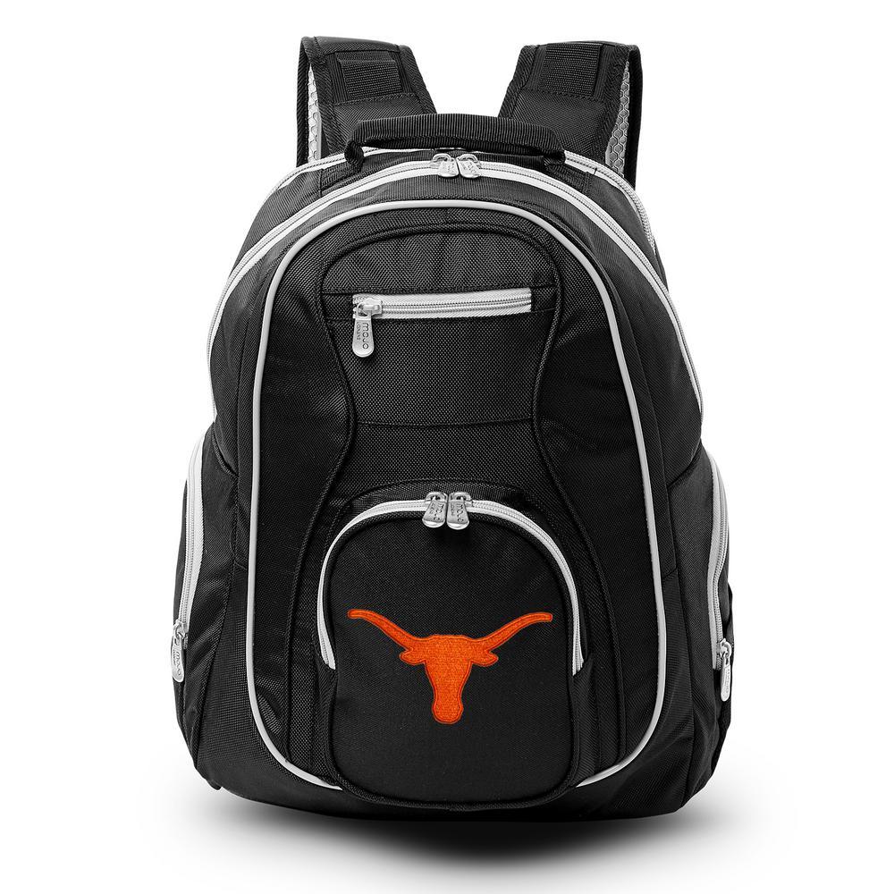 Denco NCAA Texas Longhorns 19 in. Black Trim Color Laptop Backpack, Multi-Colored
