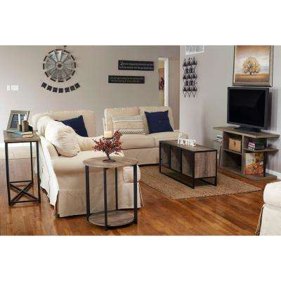 47 in x 15.75 in. Ashwood 6-Shelf Media Center