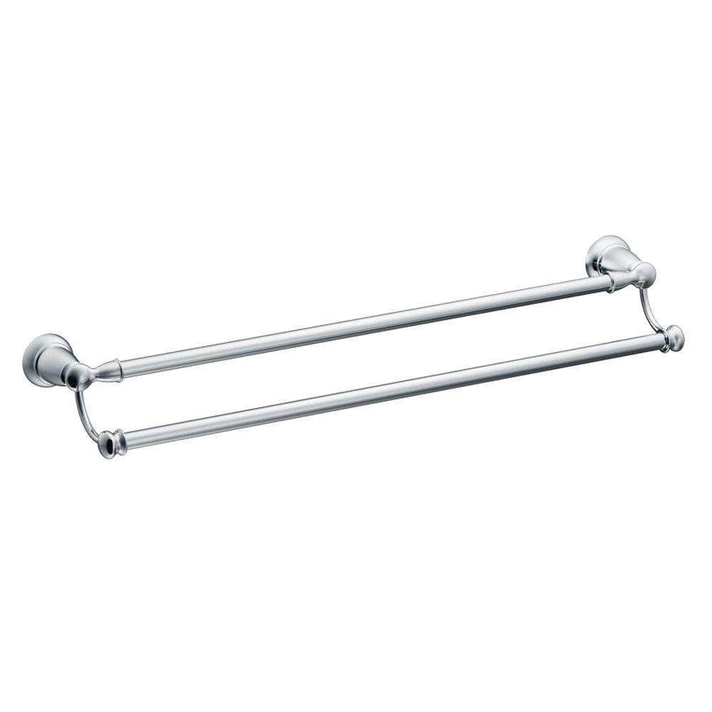 Banbury 24 in. Double Towel Bar in Chrome
