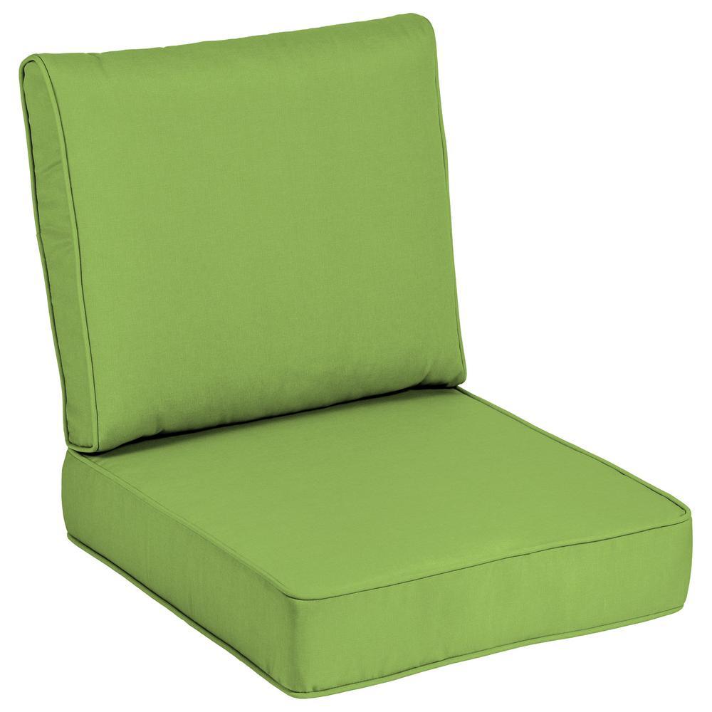 24 X Outdoor Lounge Chair Cushion In Sunbrella Canvas Gingko