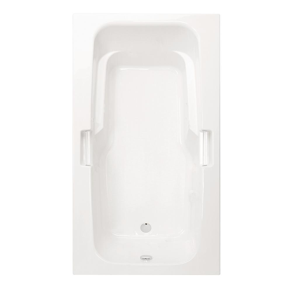 Montrose I 60 in. Acrylic Reversible Drain Rectangular Drop-In Soaking Bathtub