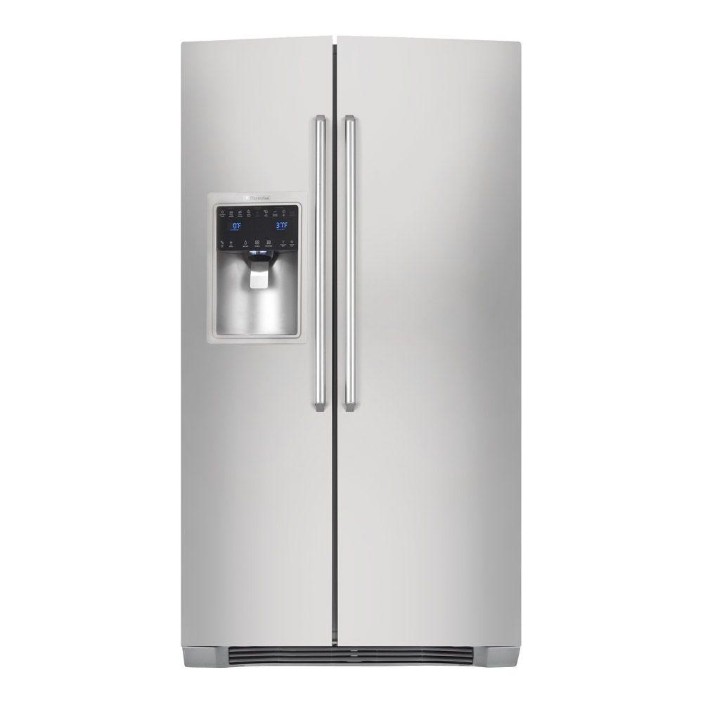 Electrolux IQ-Touch 22.2 cu. ft. Side by Side Refrigerator in Stainless Steel, Counter Depth