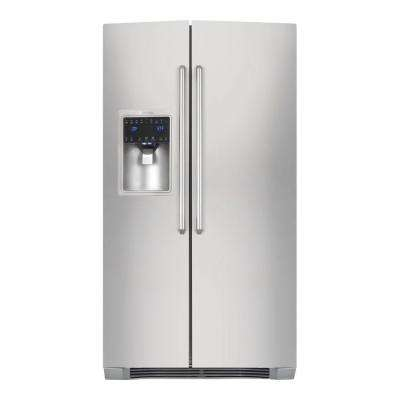 IQ-Touch 22.2 cu. ft. Side by Side Refrigerator in Stainless Steel, Counter Depth