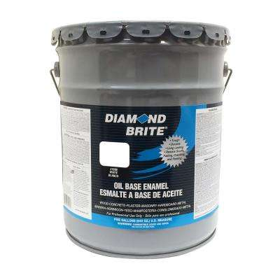 5 gal. White Oil Base Enamel Interior/Exterior Paint
