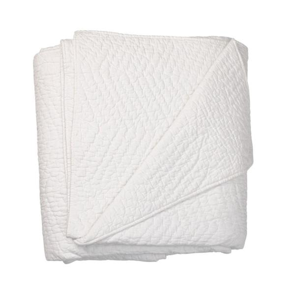 The Company Store Company White Cotton King Quilt