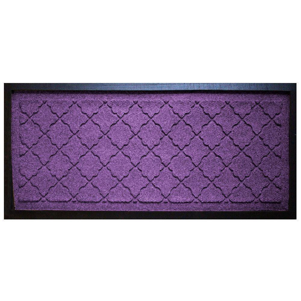 Purple 15 in. x 36 in. Cordova Boot Tray