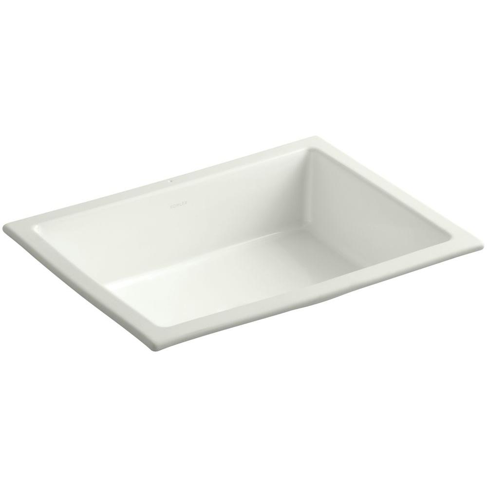 Kohler Verticyl Vitreous China Undermount Bathroom Sink With Overflow Drain In Dune With