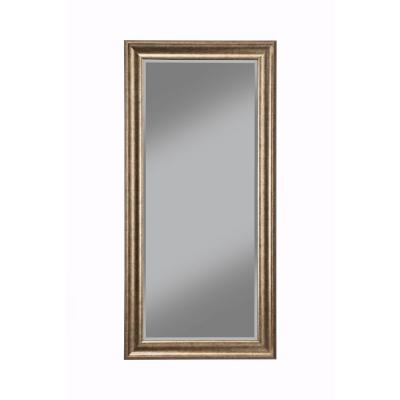 Oversized Gold Plastic Beveled Glass Full-Length Classic Mirror (65 in. H X 31 in. W)