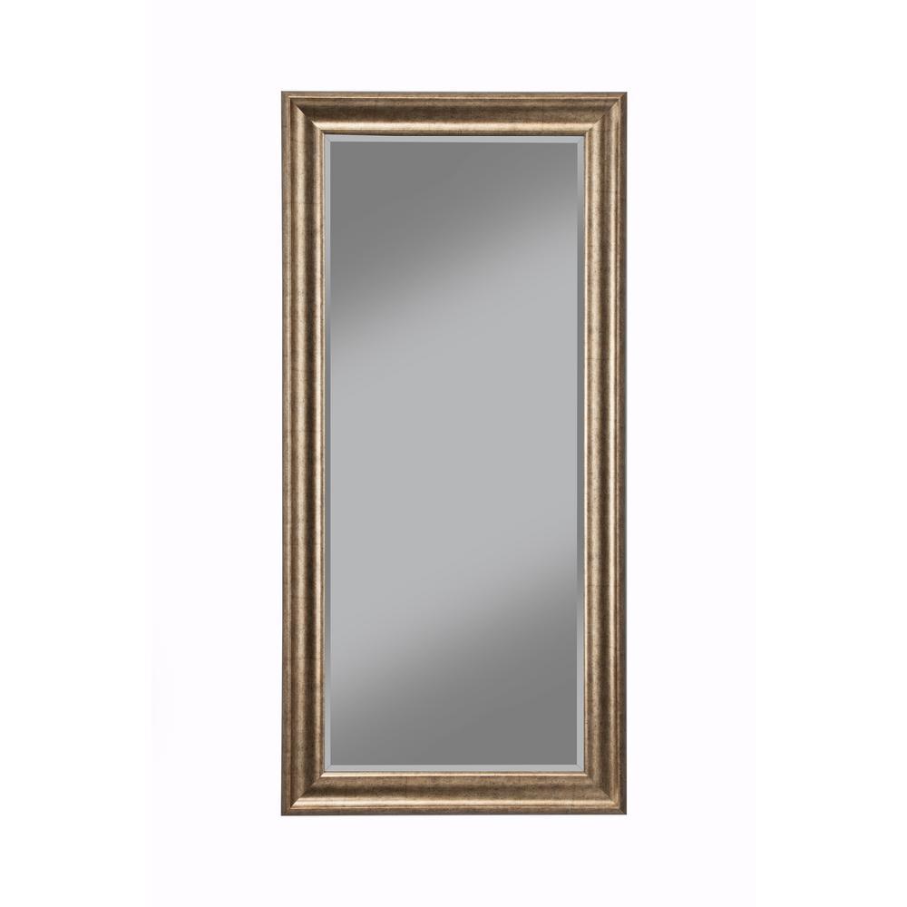 Sandberg Furniture Antique Gold Full Length Floor Leaner Mirror