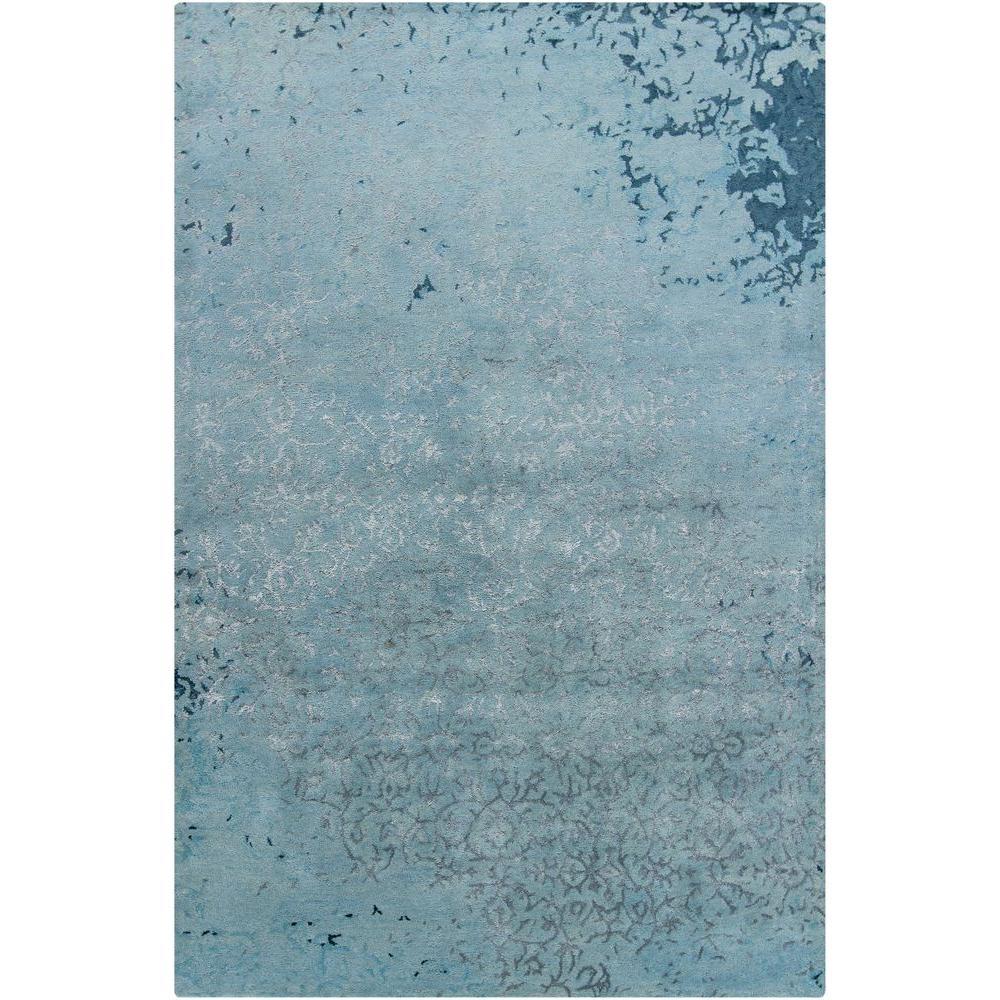 Chandra Rupec Blue/Grey 7 ft. 9 in. x 10 ft. 6 in. Indoor Area Rug