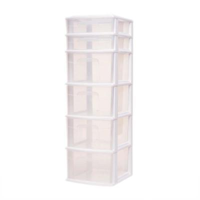 14.25 in. x 39.31 in. Storage Cart with 6 Drawers in White