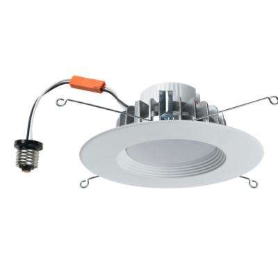 5/6 in. White Integrated LED Recessed Kit