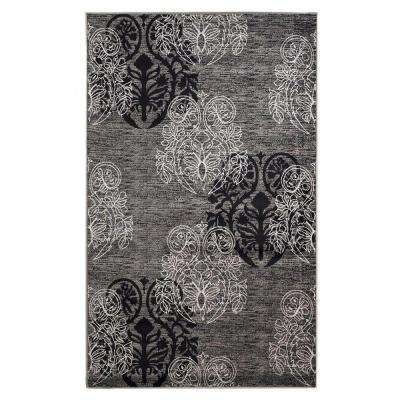 Milan Collection Grey and Black 8 ft. x 10 ft. 3 in. Indoor Area Rug