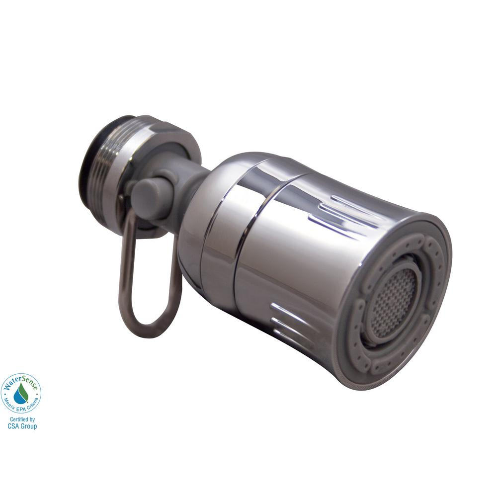 Swivel Aerator For Kitchen Faucet: Niagara Conservation 1.5 GPM Kitchen Swivel On/Off Dual