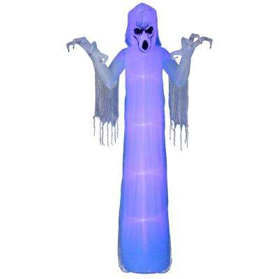12 ft pre lit inflatable short circuit frightening reaper airblown