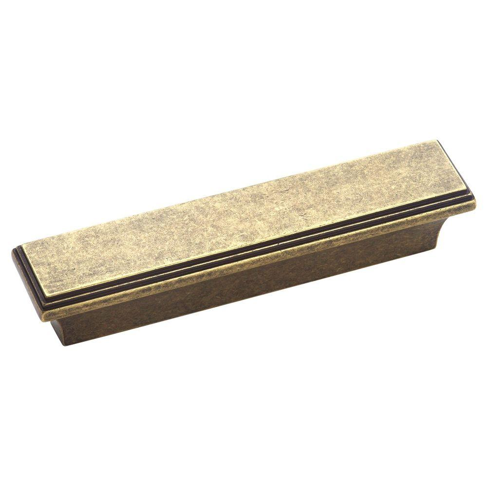 Amerock Manor 3 in. Weathered Brass Pull