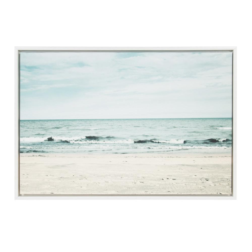 "Sylvie ""Beach 2"" by F2Images Framed Canvas Wall Art"