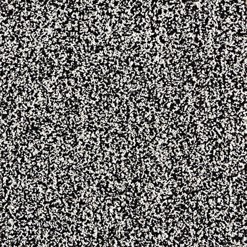 In The Deep Black/Bone 19.7 in. x 19.7 in. Carpet Tile (6 Tiles/Case)