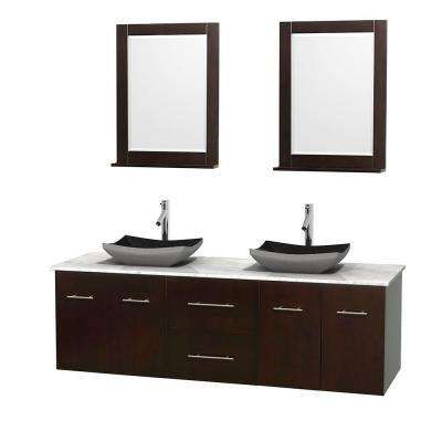 72 inch vanities floating bathroom vanities bath the home depot. Black Bedroom Furniture Sets. Home Design Ideas