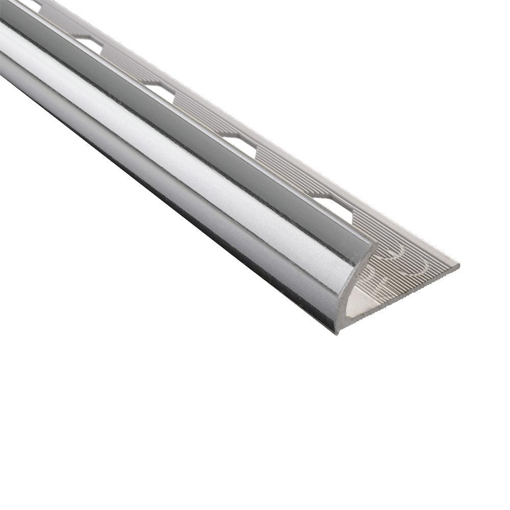 Emac Novocanto Mirror Bright 1/2 in. x 98-1/2 in. Aluminum Tile Edging Trim
