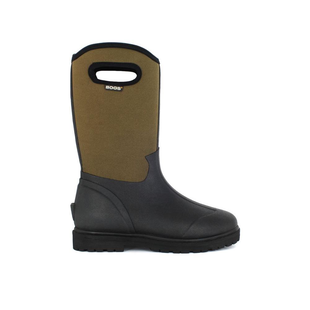 94b94e167fe BOGS Roper Men 13 in. Size 14 Black Rubber with Neoprene Waterproof Boot