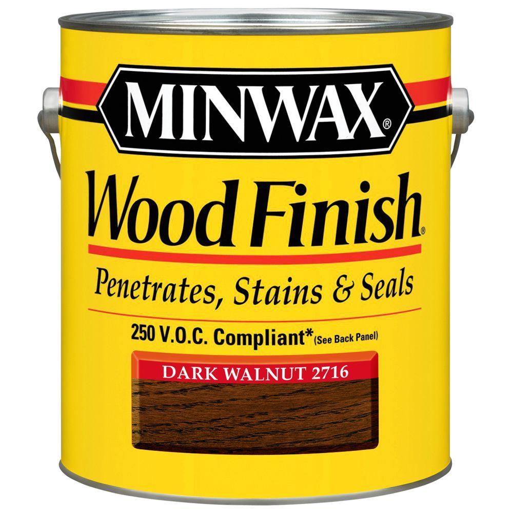 Minwax 1 gal. Wood Finish Dark Walnut Oil Based Interior Stain 250 VOC