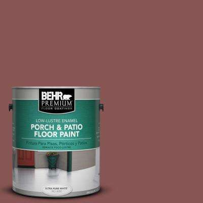 1 gal. #PPU1-9 Red Willow Low-Lustre Porch and Patio Floor Paint