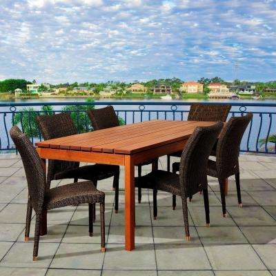 Chambers 7-Piece Eucalyptus Rectangular Patio Dining Set