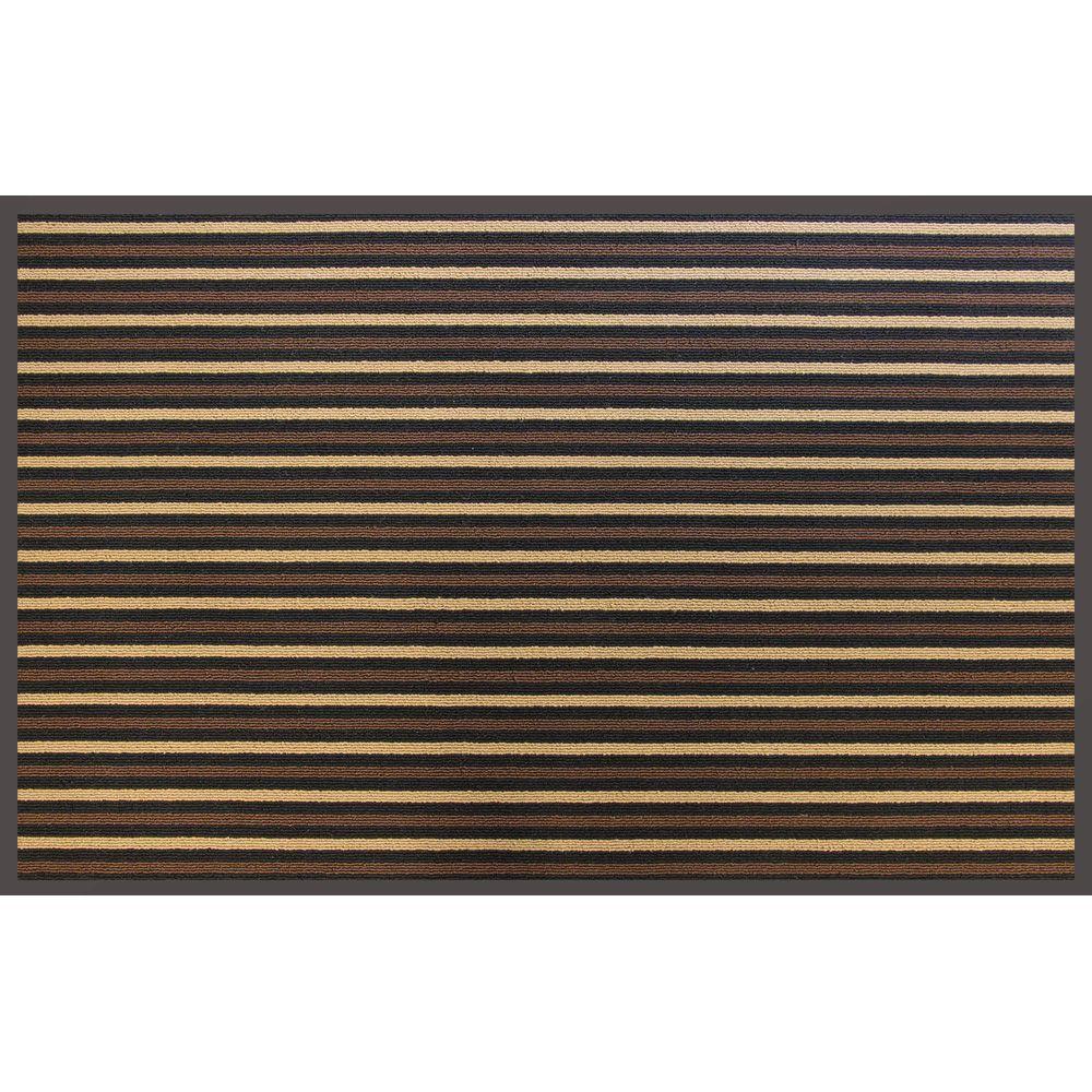 36 in. x 60 in. Brown Stripe Commercial Door Mat
