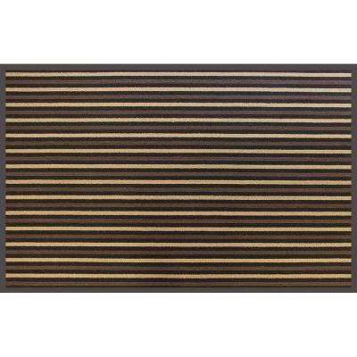 Brown Stripe 36 in. x 60 in. Commercial Door Mat