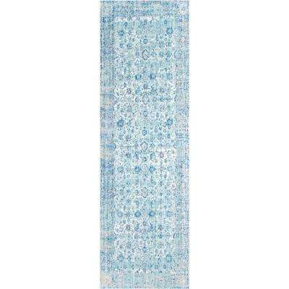 Vintage Modesto Aqua 3 ft. x 8 ft. Runner Rug