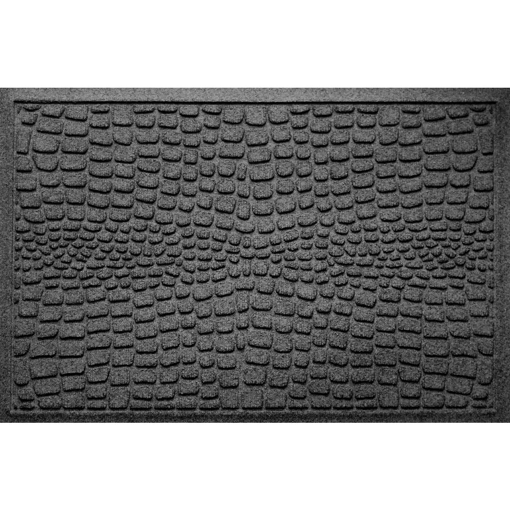 Alligator Charcoal 24 in x 36 in Polypropylene Door Mat