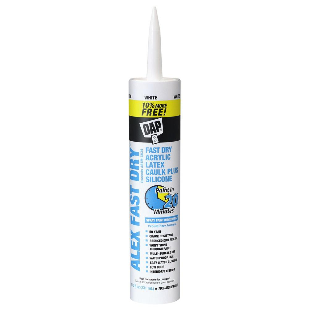 DAP Alex Fast Dry 11.2 oz. Acrylic Latex Caulk Plus Silicone