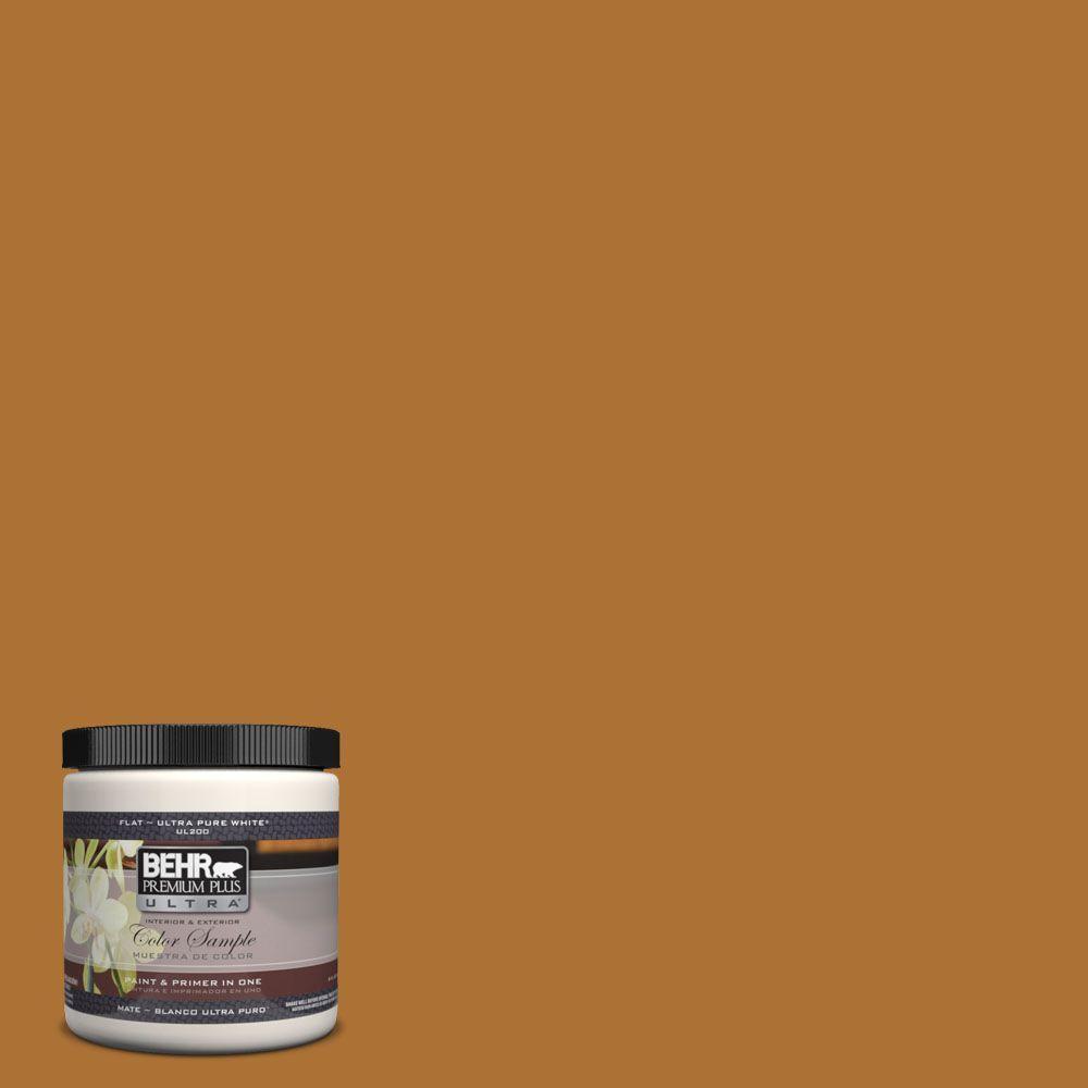 BEHR Premium Plus Ultra 8 oz. #S-H-320 Enchanting Ginger Interior/Exterior Paint Sample