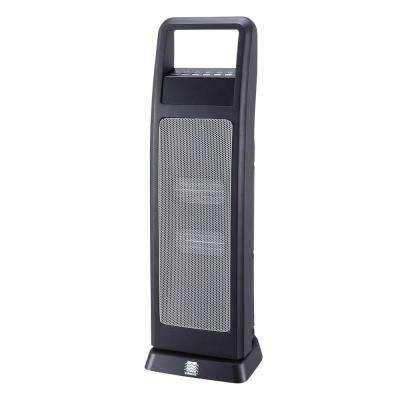 24 in. 1500-Watt Electric Portable Ceramic Tower Heater with Remote Control