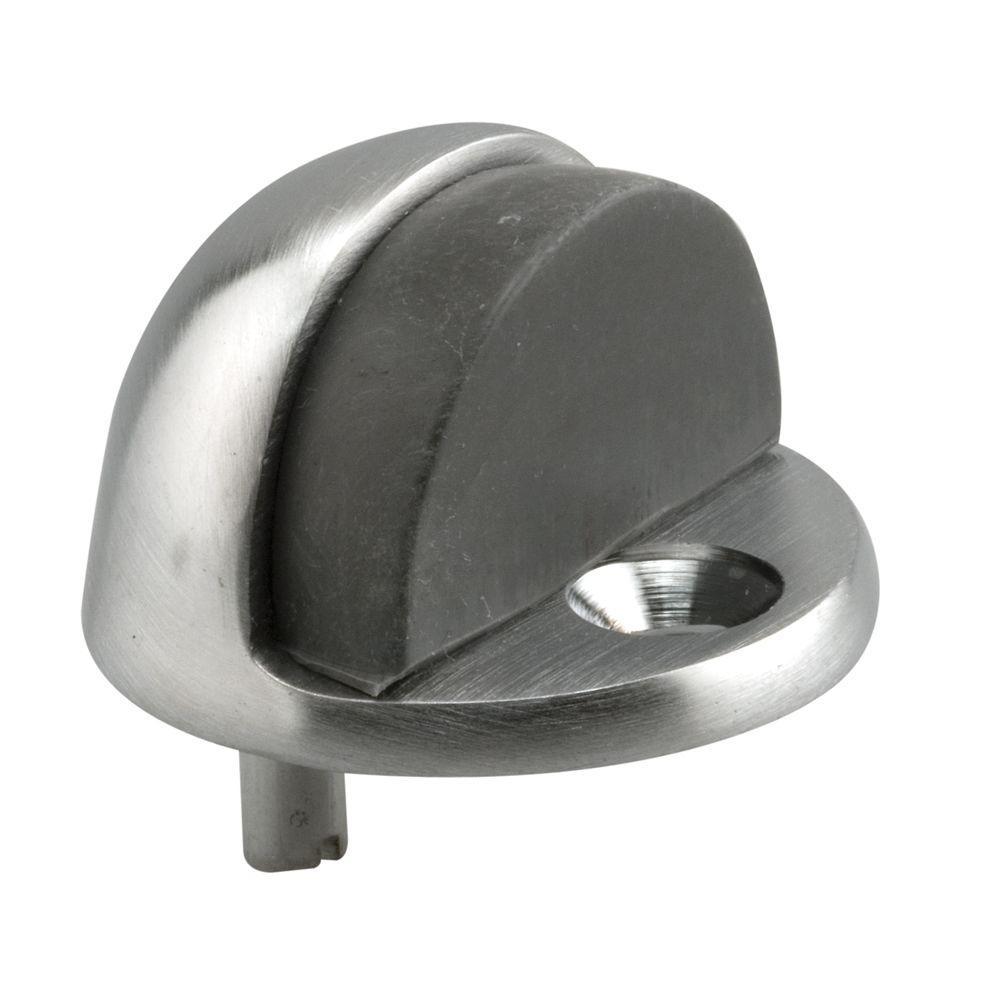 Dome Type 1 in. Brushed Chrome PL Brass Tall Door Floor Stop