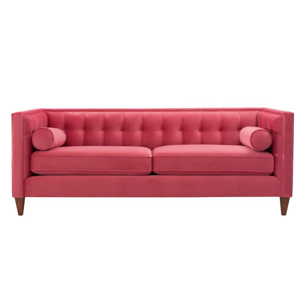 Jack Garnet Rose Tuxedo Sofa