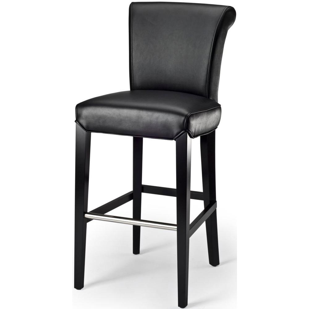 Safavieh Seth 29.3 in. Black Cushioned Bar Stool