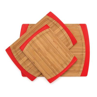 3-Piece Bamboo Slip Resistant Cutting Board Set