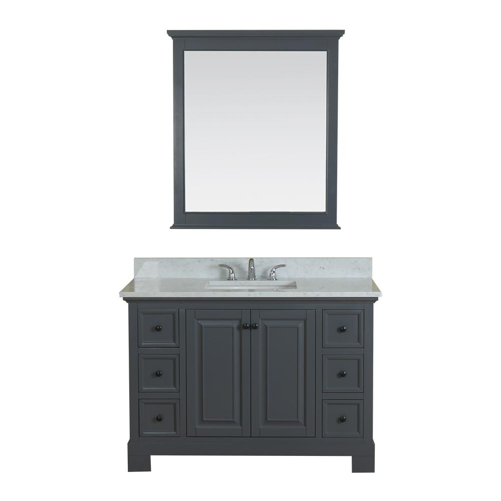 Richmond 48 in. W x 22 in. D Vanity in Gray
