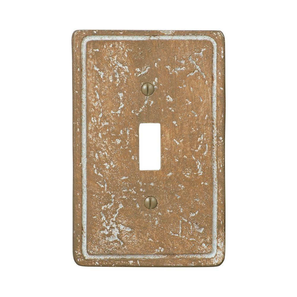 Amerelle Amerelle Texture Stone 1 Toggle Wall Plate - Noche