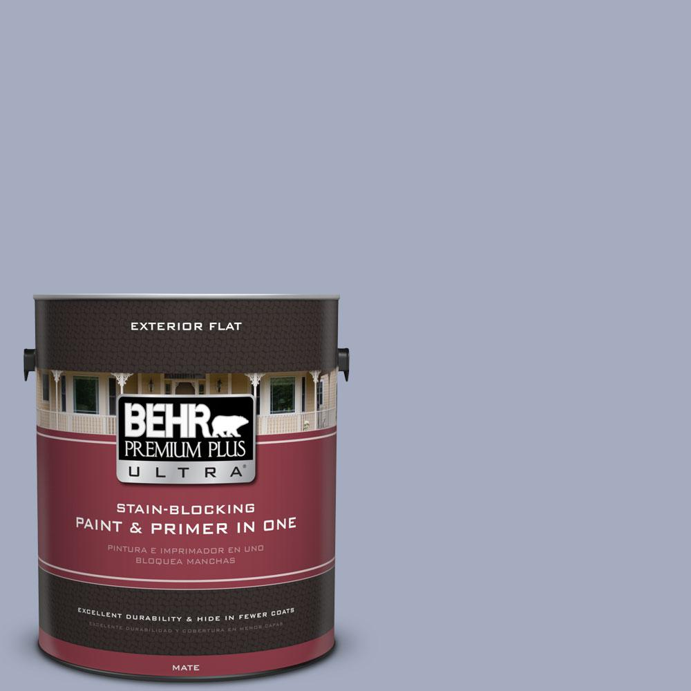 1-gal. #ICC-55 Hydrangea Blossom Flat Exterior Paint