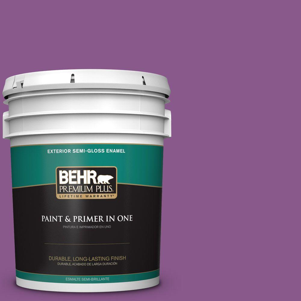 5-gal. #670B-7 Candy Violet Semi-Gloss Enamel Exterior Paint