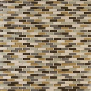 Luxor Valley Brick 12 in. x 12 in. x 8 mm Glass Stone Mesh-Mounted Mosaic Tile (1 sq. ft.)